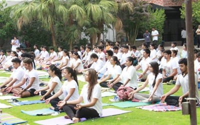 Healthy Campus celebrates World Yoga Day