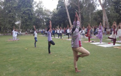 Healthy Campus celebrates World Yoga Day2